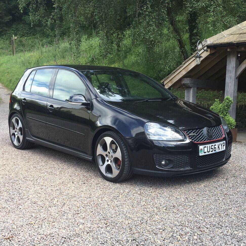 2006 56 vw volkswagen golf gti mk5 dsg 2 0 black full leather 18 wheels sat nav air con in