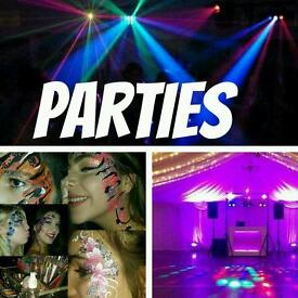 Dj Disco Face Painting Balloons and more for Parties Weddings and Functions