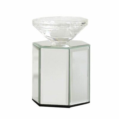 Hexagon Candle (Mirrored Glass Hexagon Hexagonal Pillar Candle / Tealight Holder )