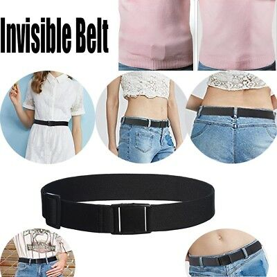 Adjustable Women Invisible Belts Elastic No Show Web Belt Waist Belt Waistband