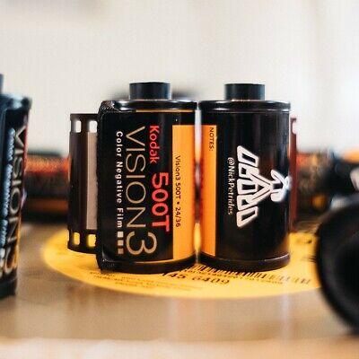 10x Kodak Vision3 500T tungsten 35mm colour film