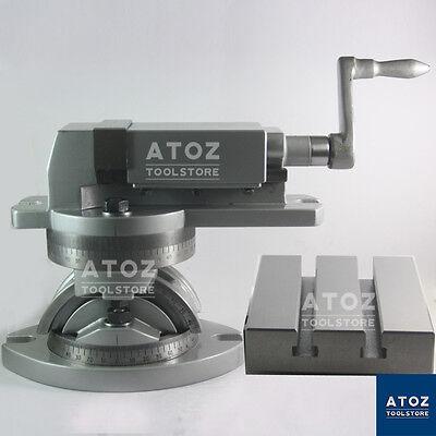 Precision Modular Machine Vise 2 50 Mm Tilting Table 4 X 5 Premium Vice