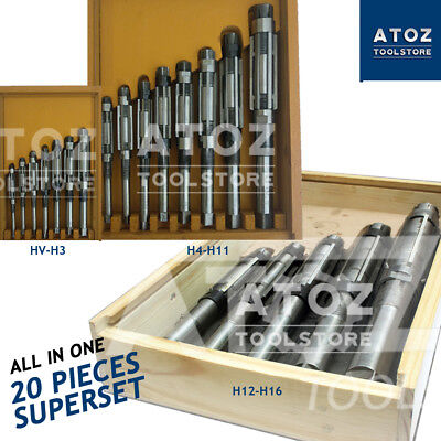 20 Pieces Adjustable Hand Reamers Reamer Set 14 To 2.732 Hv - H16 Atoz