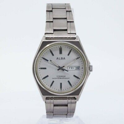 SEIKO ALBA VX43-0AG0 TITANIUM WATCH JAPAN