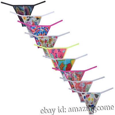 Men's String Bikini Briefs Underwear String Belt Spandex Tanga Brief Thongs