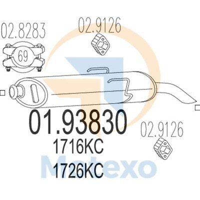 MTS 01.93830 Exhaust CITROEN Saxo 1.6i 90bhp 02/96 - 12/04