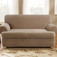 Couch loveseat slipcover slip cover T Cushion