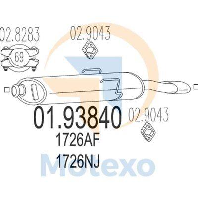 MTS 01.93840 Exhaust CITROEN Saxo 1.5 Diesel 58bhp 02/96 - 12/04