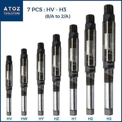 Atoz Hv To H3 Adjustable Hand Reamer 7pcs Set 14 - 1532 Industrial Leader