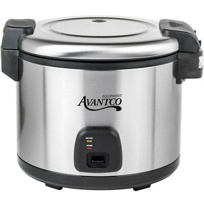 Commercial 60 Cup 30 Cup Raw Electric Rice Cooker Warmer Stainless Steel 1550w