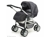 For Sale - Silver Cross Linear Freeway Pram and Pushchair with matching Car Seat Charcoal - £200 ono