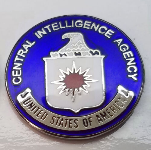CIA MINI PIN Central Intelligence Agency US Agent Lapel Badge Hat Tie Tack
