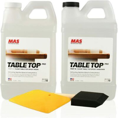 Crystal Clear Epoxy Resin One Gallon Kit Mas Table Top Pro Epoxy Resin And