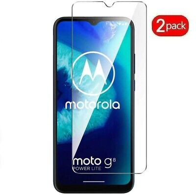 (2 Pack) Tempered Glass Screen Protector For Motorola Moto G8 Power Lite