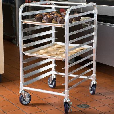 10 Pan End Load Half Height Bakery Bun Dough Baking Sheet Pan Rack Commercial (End Load Bun Pan Rack)