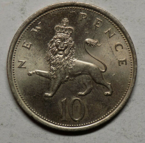 Great Britain 1975 10 Pence Coin