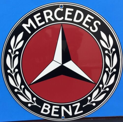 Vintage Reproduction Mercedes Advertising Garage Sign