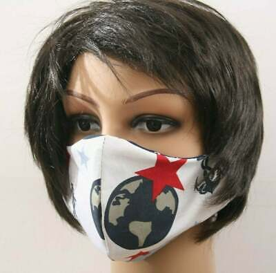 Neu mehrweg Gesichtsmaske Mund- und Nasenbedeckung Weiß Rot - Rote Masken