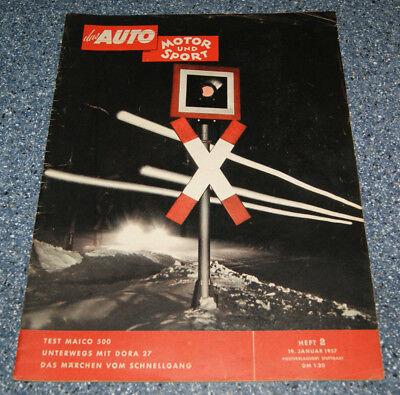 AMS 2/57 Maico 500, Ford Retractable, Moss, Fangio, die besten Rennfahrer ()