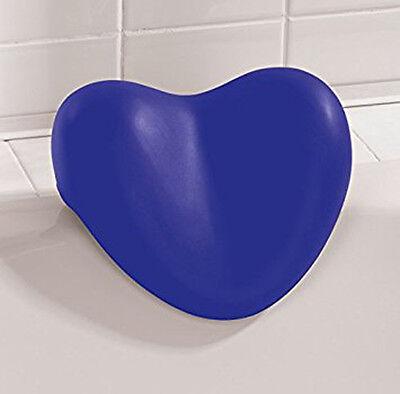 WENKO Nackenkissen Tropic blau - Herz Kissen für Badewanne - Badewannenkissen