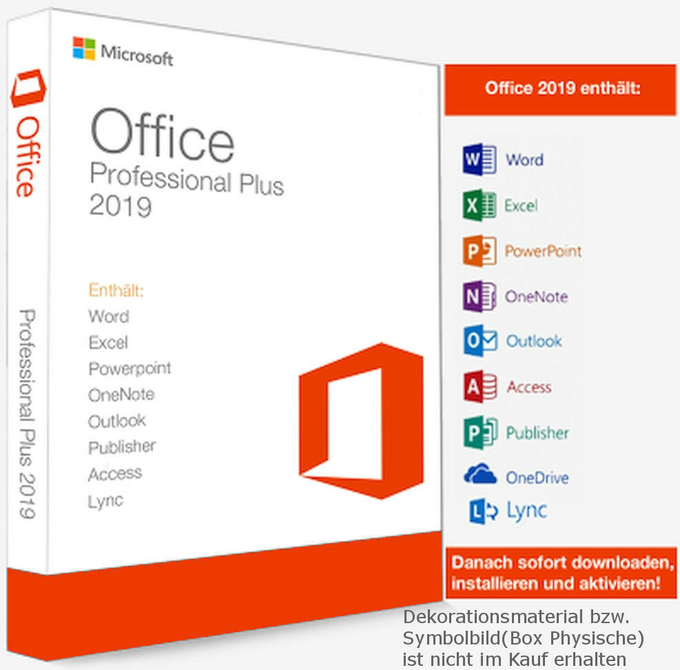 Microsoft Office 2019 Pro Plus Key Für 3 PCs + Updates | Lifetime Kein Abo