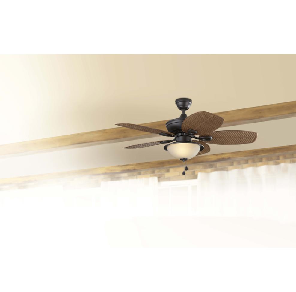 """Outdoor/Indoor 44"""" Small Palm Ceiling Fan Bronze Fixture Pat"""