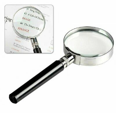 Magnifying Glass 6X Reading Magnifier HANDHELD 2″ Glass Lens Jewelry Loupe Loop Jewelry & Watches