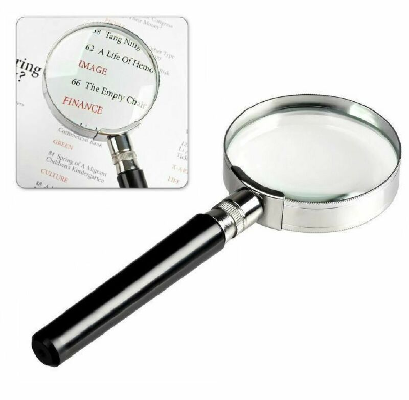 """Magnifying Glass 6X Reading Magnifier HANDHELD 2"""" Glass Lens Jewelry Loupe Loop"""