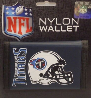 NFL Tennessee Titans Tri-Fold Nylon Wallet Durable Helmet Logo Rico Industries