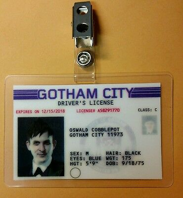 Gotham Id-Plakette - Oswald Cobblepot Pinguin Cosplay Requisite - Gotham Pinguin Kostüm