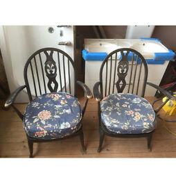 Pair of fleur-de-lys chairs for sale