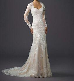 couture blush dress size 14