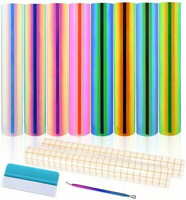Holographic Opal Vinyl Sheets 8 Permanent Adhesive Backed Transfer Tape Craft