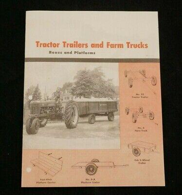 Ih Mccormick Farmall Tractor Trailers Farm Trucks Cub Platform Carriers Wagons