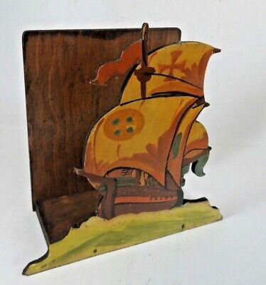 Vintage Wooden Letter rack Galleon