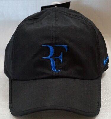 b24cf121d0c9c NEW Nike Youth Roger Federer RF DRI-FIT Cap Hat Black 729455-010 for