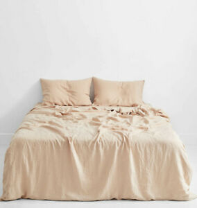 Queen Duvet linen/Bed threads/Terracotta