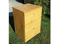 2 Drawer Wood Effect Filing Cabinet