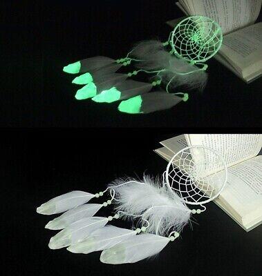 Luminous Dream Catcher Glow In Dark Handmade Gift Wall Pendant Organic - Dream Catcher Materials