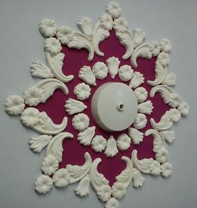 Ceiling rose/design, plaster, home decor, handmade, 14