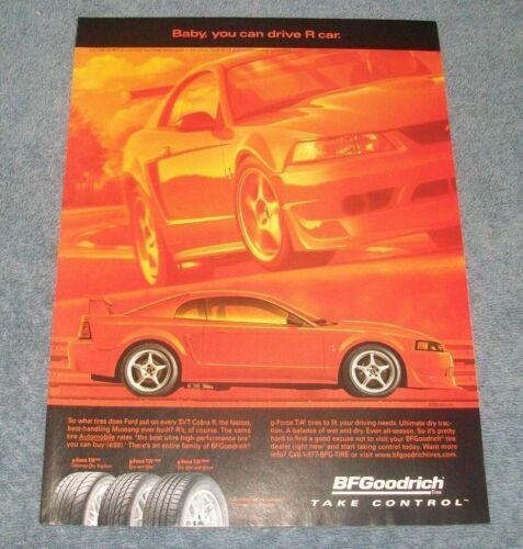 2002 BFGoodrich G-Force Tires Ad Ford Mustang Cobra R BF Goodrich