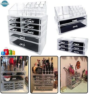 Beautify Extra Large 5 Tier Clear Acrylic Cosmetic Makeup Cube Organizer Storage
