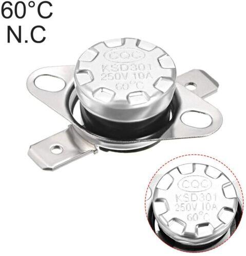 KSD301 Thermostat 60°C/140°F 10A Normally Closed N.C Adjust Snap Disc Temperatur