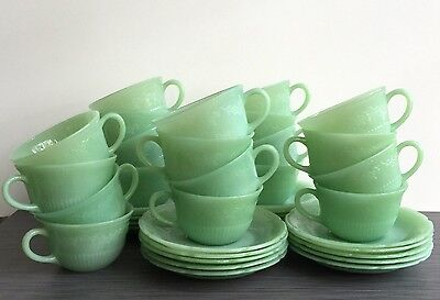 Fire King Jadite / Jadeite / Jade-ite Alice Cup And Saucer Set *Many Available*