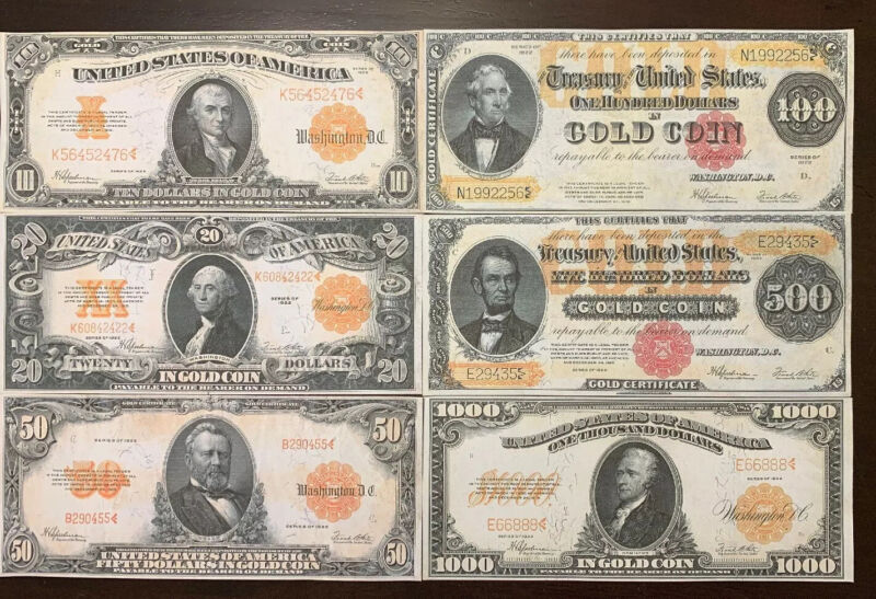 Reproduction $50 1922 Gold US Paper Money Currency Copy