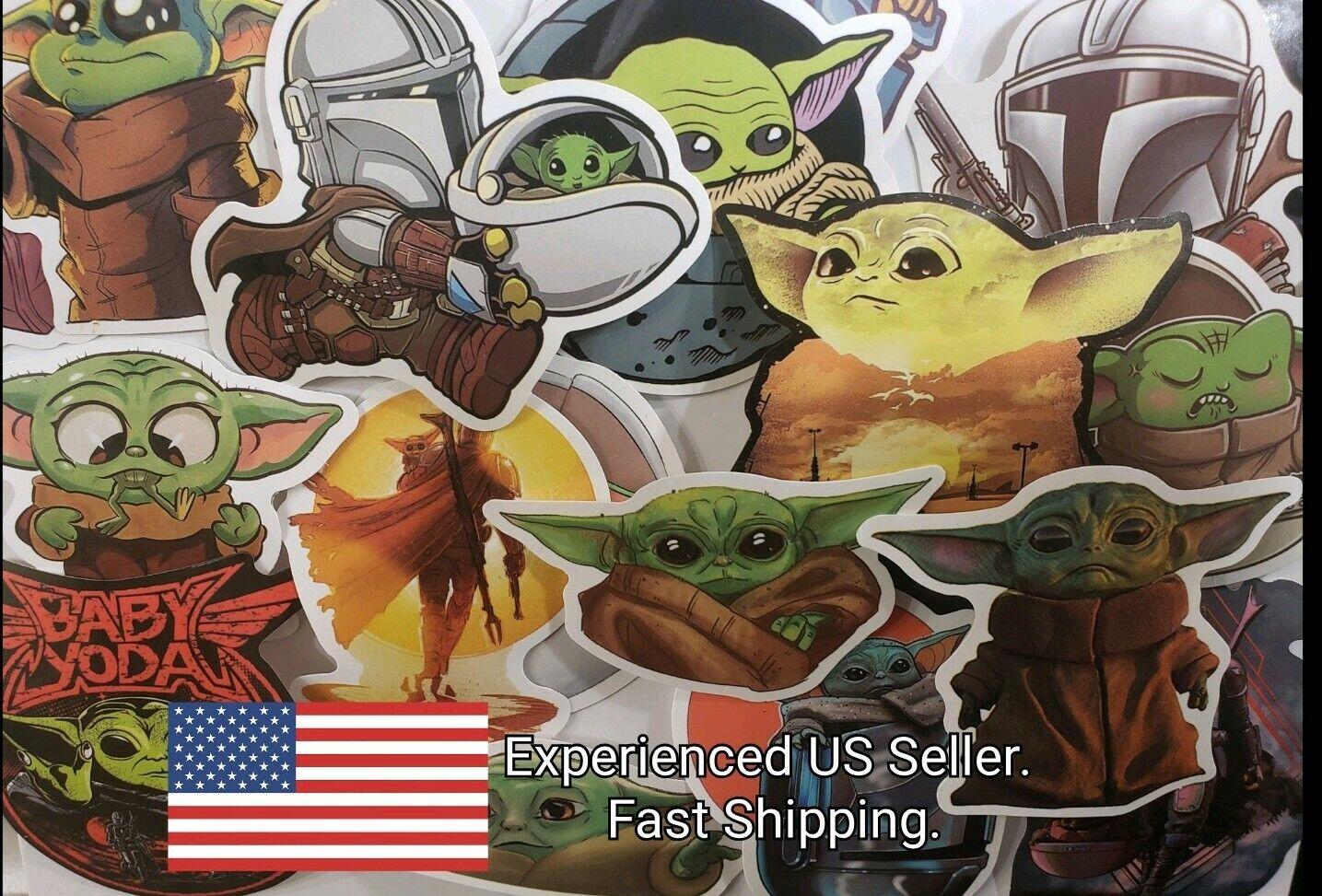 Home Decoration - Baby Yoda Stickers Decals 50 Pack Mandalorian Star Wars The Child Darksaber
