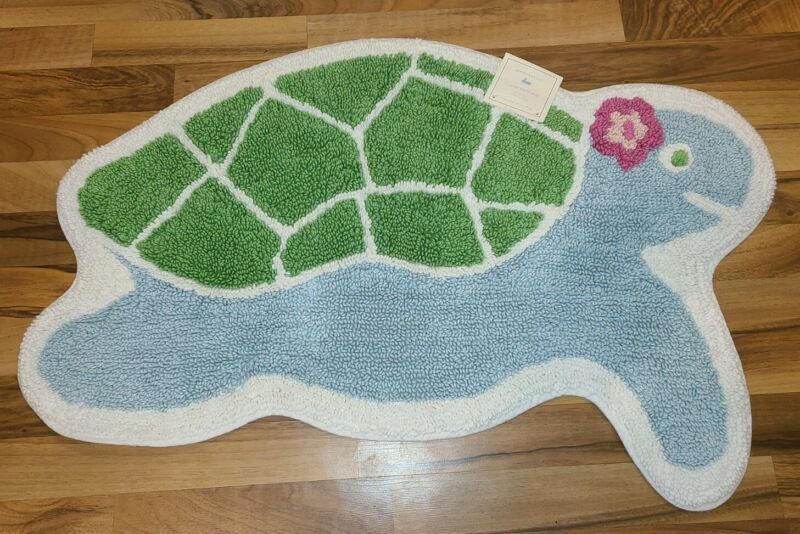 NEW Pottery Barn Kids ~ MERMAID COLLECTION ~ Turtle Bath Mat ~ NWT