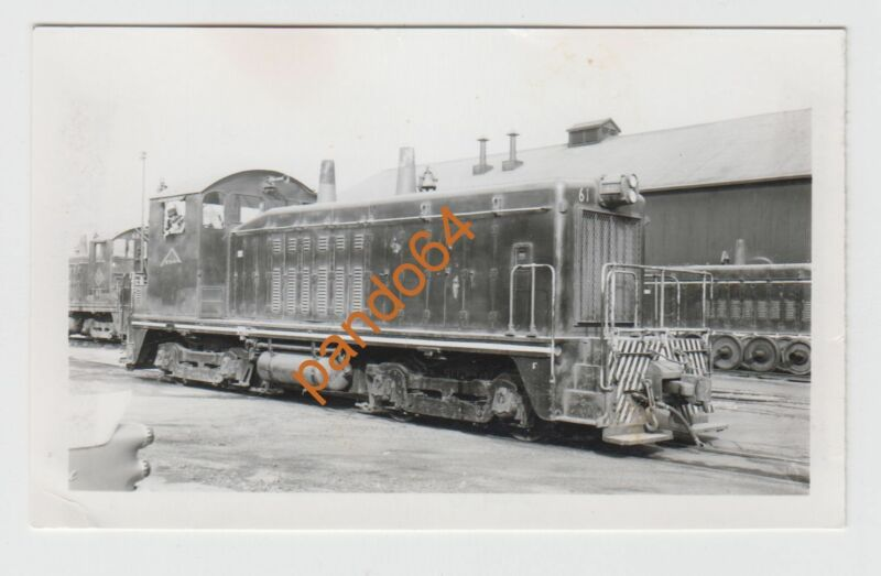 RIVER TERMINAL #61 Cleveland Ohio DIESEL SWITCHER Original B&W Photograph TP10