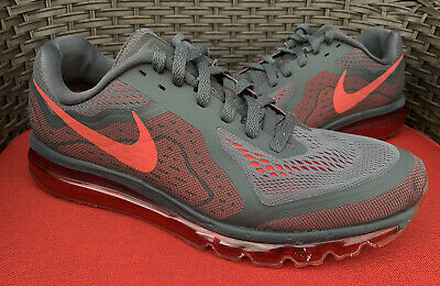Nike Air Max 2014 Men's 12 Running Shoes Anthracite Gray/Red