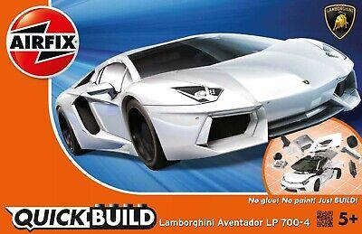 Airfix QUICK BUILD White Lamborghini Aventador LP 700-4 Plastic Model Kit J6019